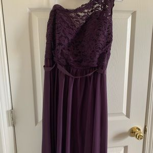 Plum One Shoulder Formal Dress PERFECT FOR FORMALS